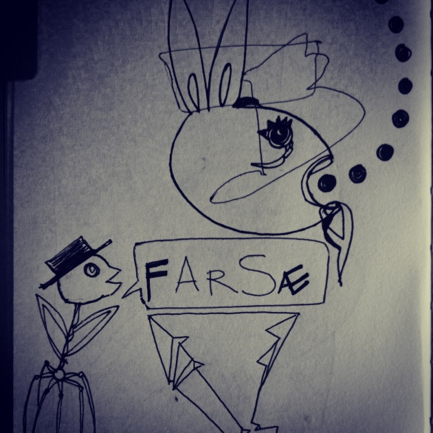 Farse. Another rabbit in my sketchbook.